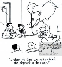 """I think it's time we acknowledged the elephant in the room."""