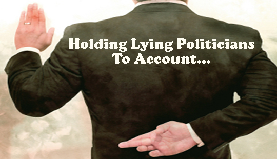 LYING HOLDING TO ACCOUNT POLIT