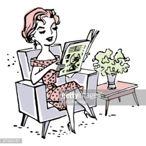 WOMAN READING PAPER