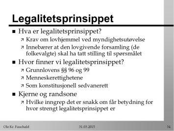 legalitetsprinsippet